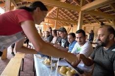 Závody v pojídání ovocných knedlíků